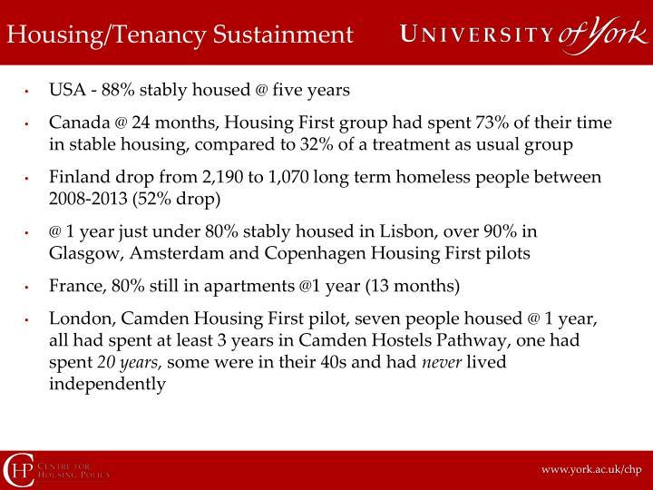 Housing/Tenancy Sustainment