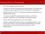 housing tenancy sustainment