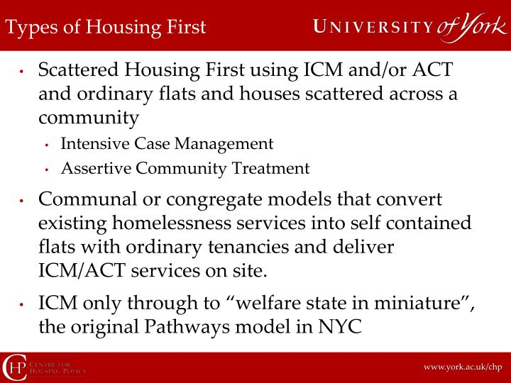Types of Housing First