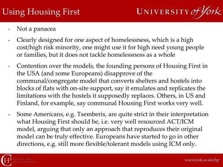 Using Housing First