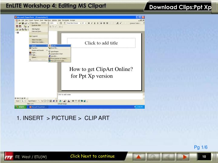 Download Clips:Ppt Xp