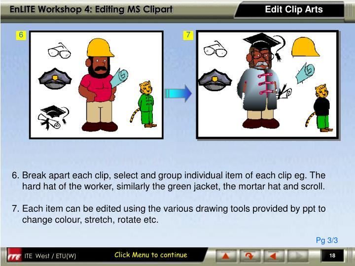 Edit Clip Arts