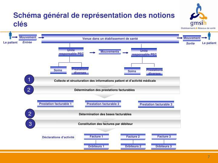 Schéma général de représentation des notions clés