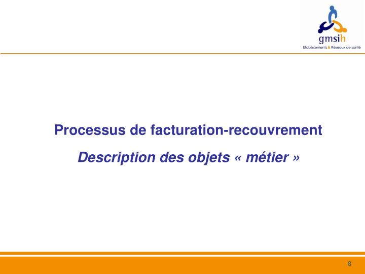 Processus de facturation-recouvrement