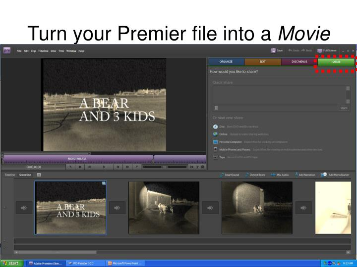 Turn your Premier file into a