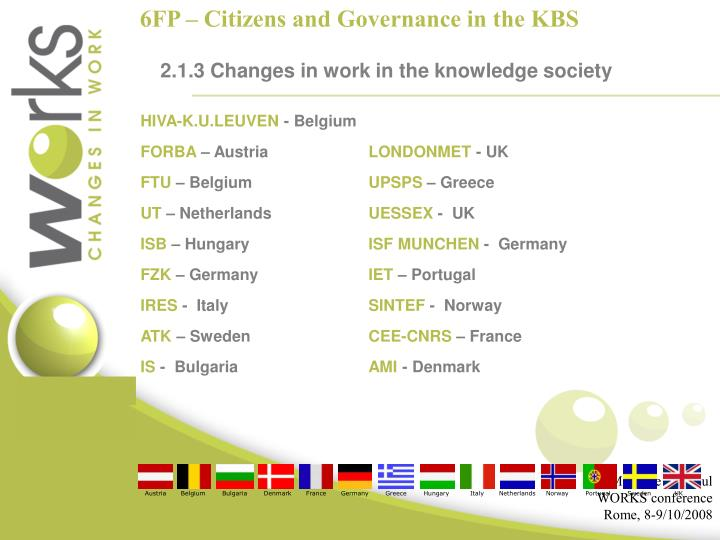 6FP – Citizens and Governance in the KBS