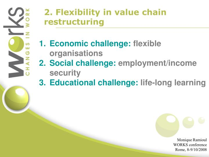 2. Flexibility in value chain restructuring