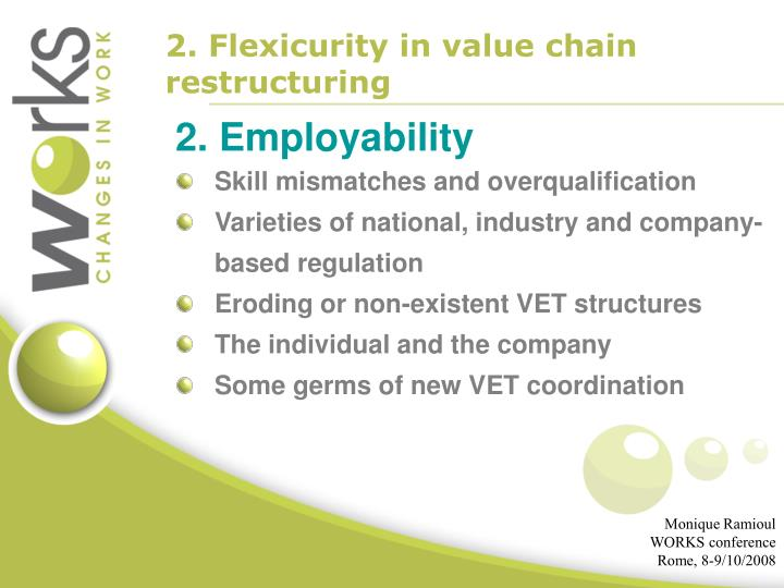2. Flexicurity in value chain restructuring