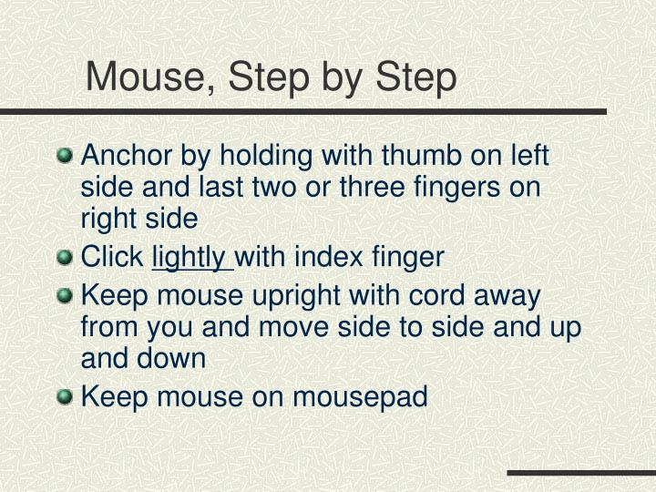 Mouse, Step by Step