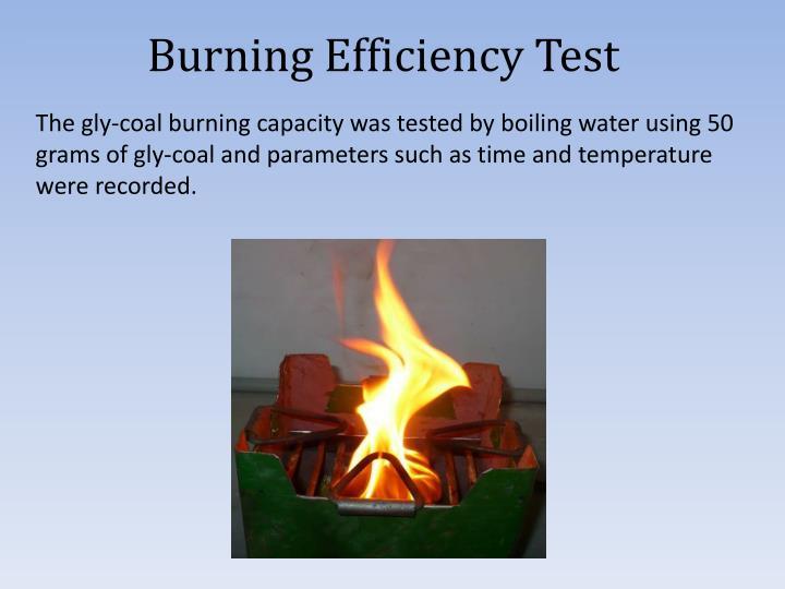 Burning Efficiency Test