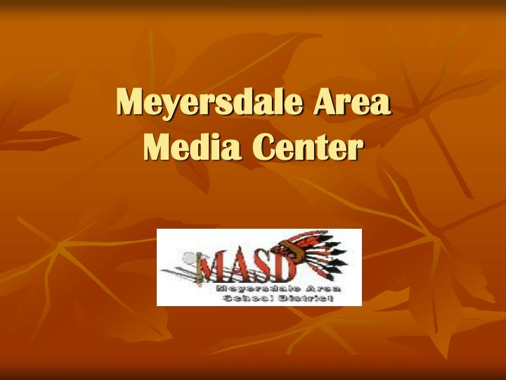 Meyersdale area media center