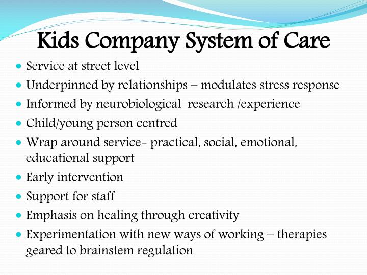 Kids Company System of Care