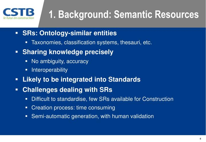 1. Background: Semantic Resources