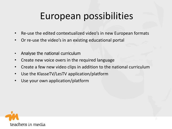European possibilities
