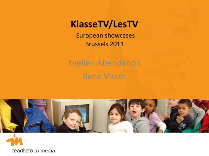 Klassetv lestv european showcases brussels 2011