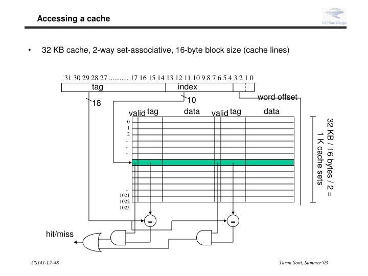 Accessing a cache