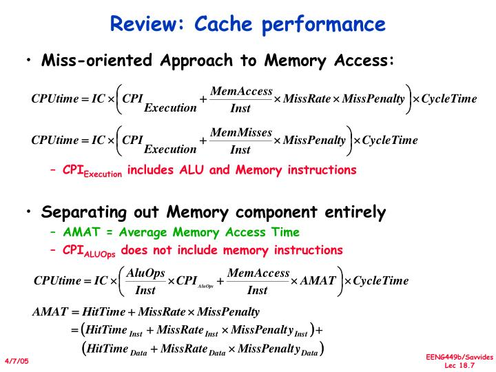 Miss-oriented Approach to Memory Access: