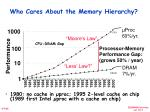 who cares about the memory hierarchy