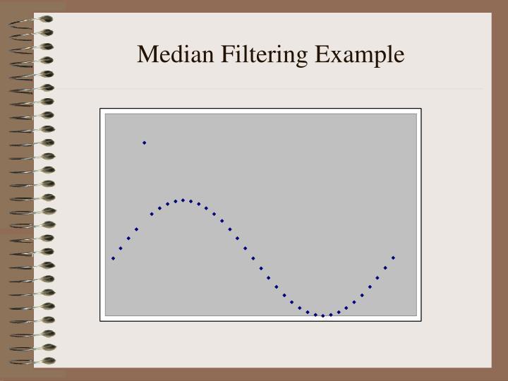 Median Filtering Example