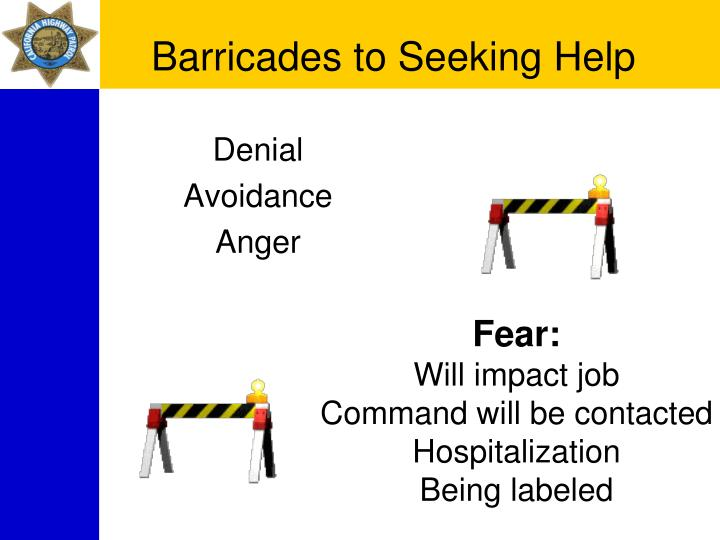 Barricades to Seeking Help