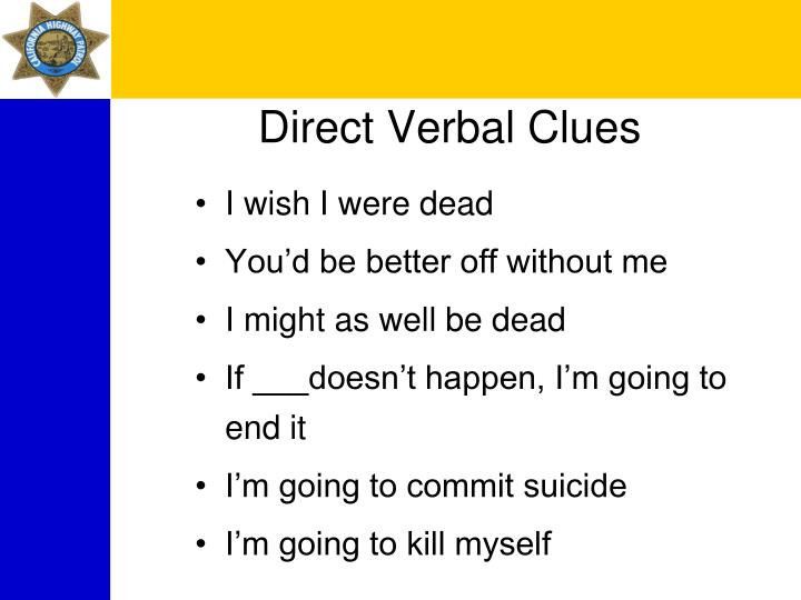 Direct Verbal Clues