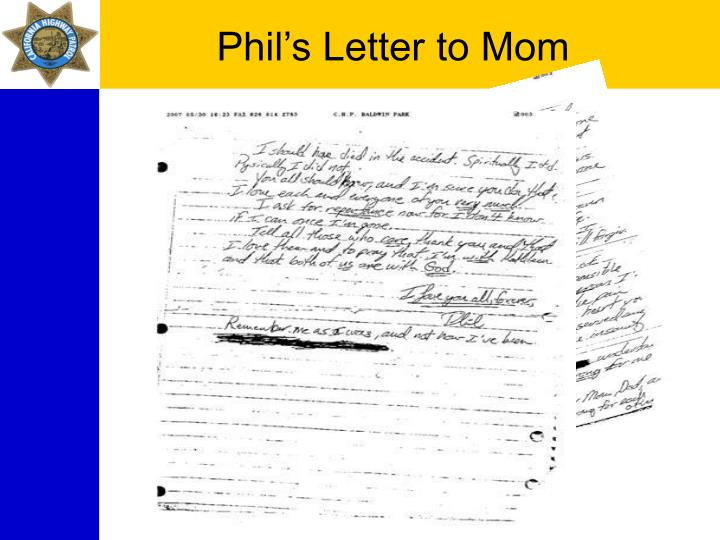 Phil's Letter to Mom