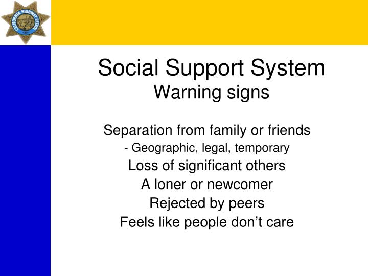 Social Support System