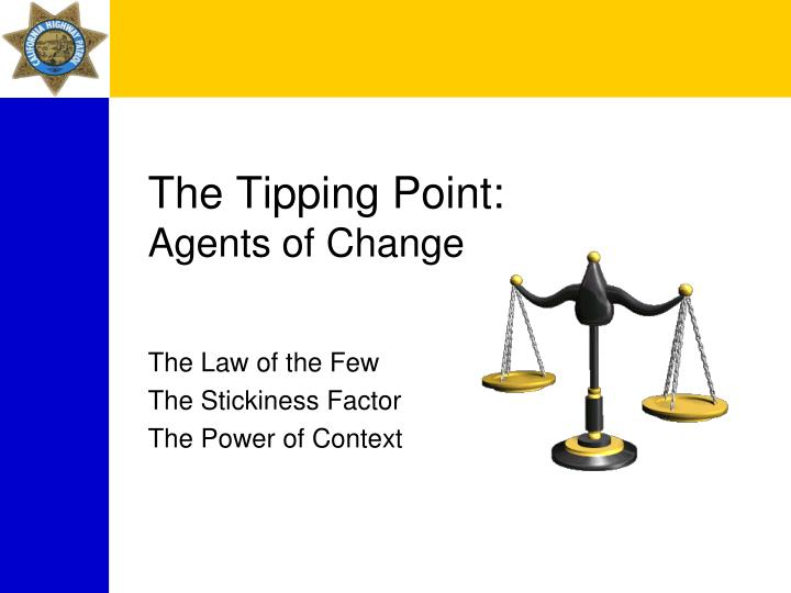 The Tipping Point: