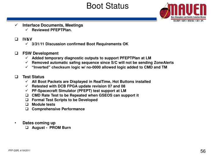 Boot Status