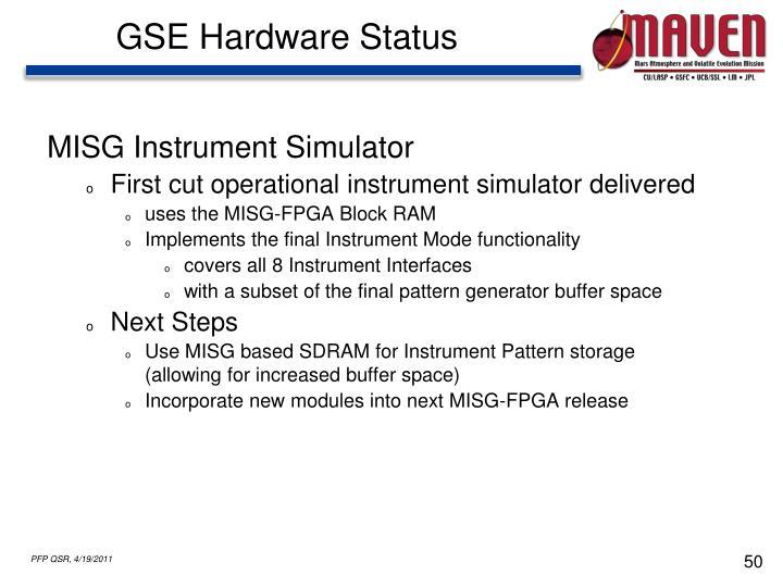 GSE Hardware Status