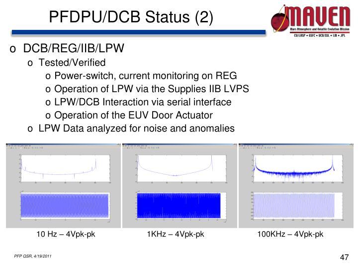 PFDPU/DCB Status (2)