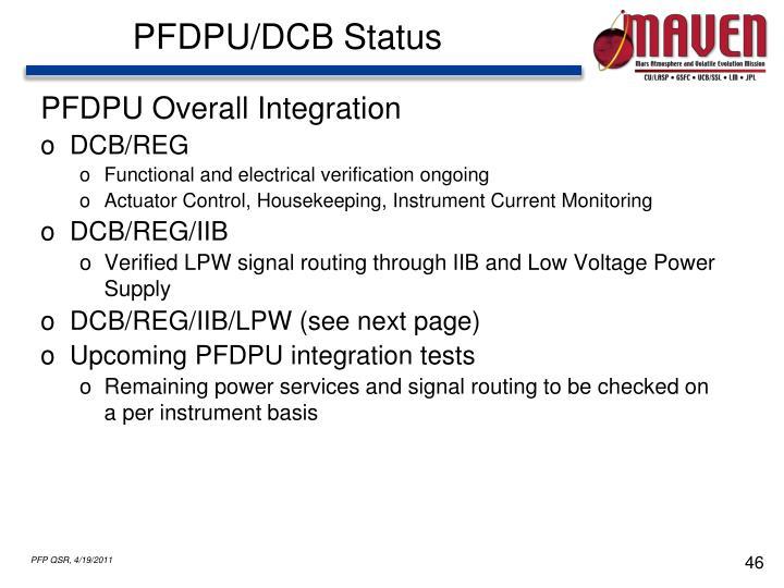 PFDPU/DCB Status