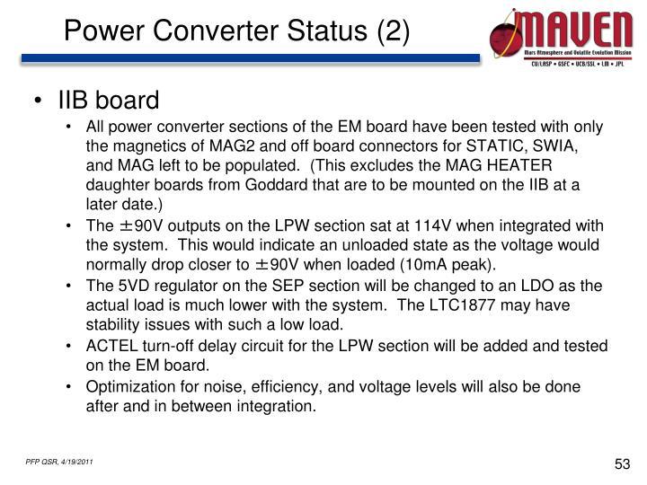 Power Converter Status (2)