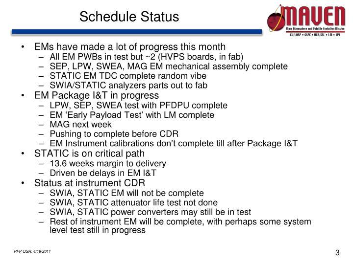 Schedule Status