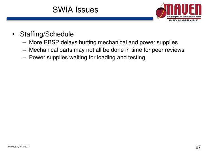 SWIA Issues