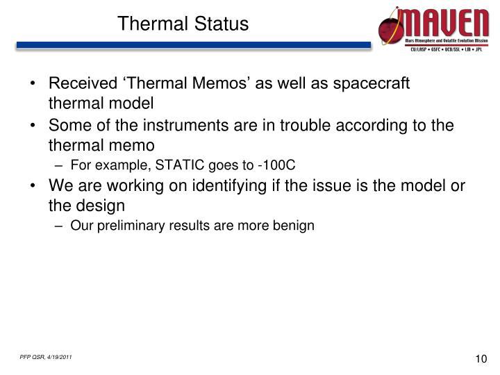 Thermal Status