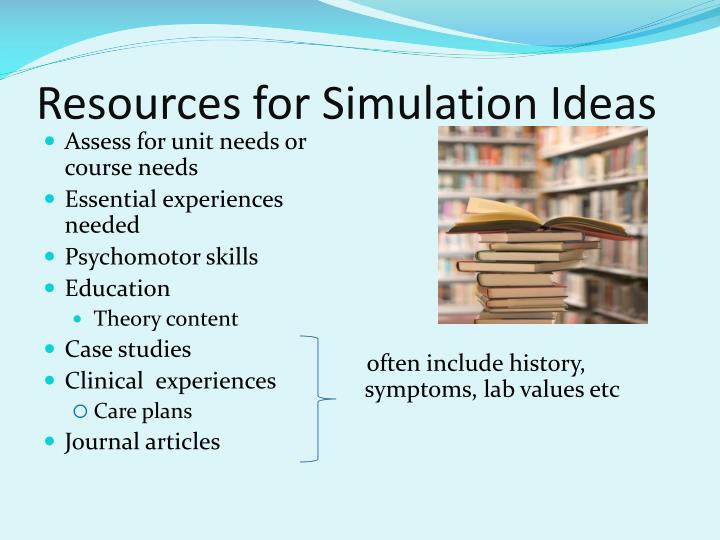 Resources for Simulation Ideas