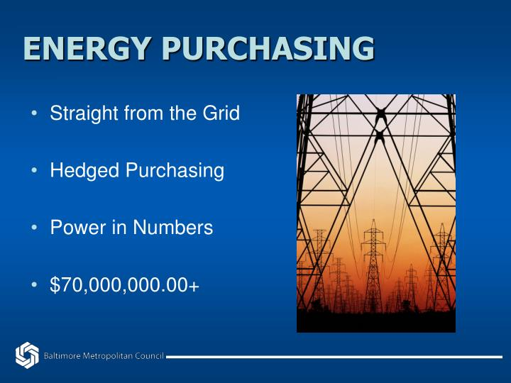 ENERGY PURCHASING