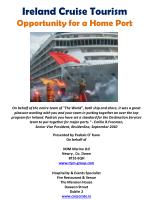 ireland cruise tourism opportunity for a home port