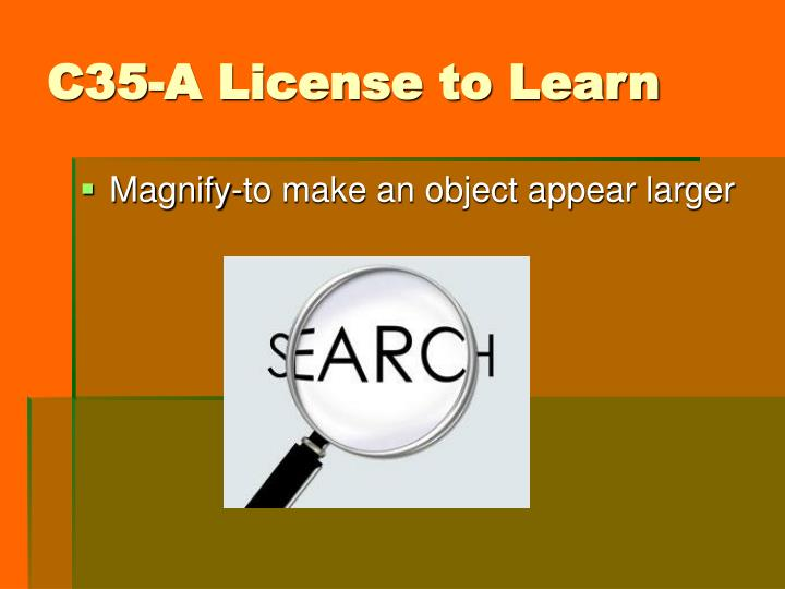 C35-A License to Learn