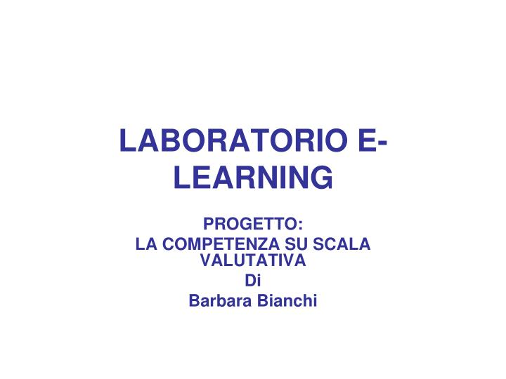 Laboratorio e learning