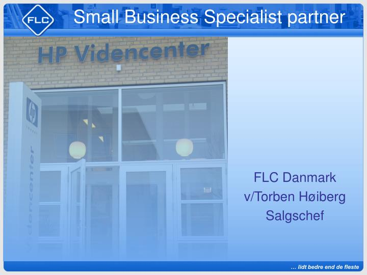 small business specialist partner