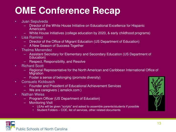 OME Conference Recap