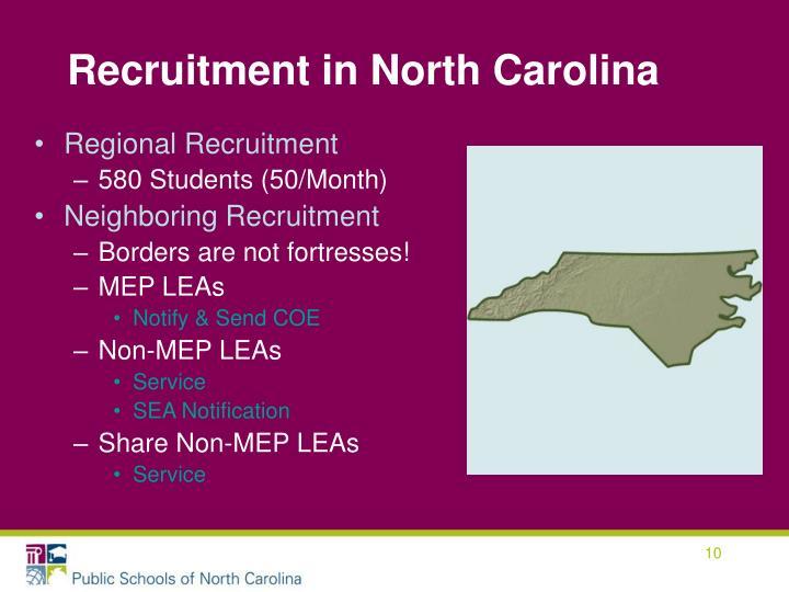 Recruitment in North Carolina