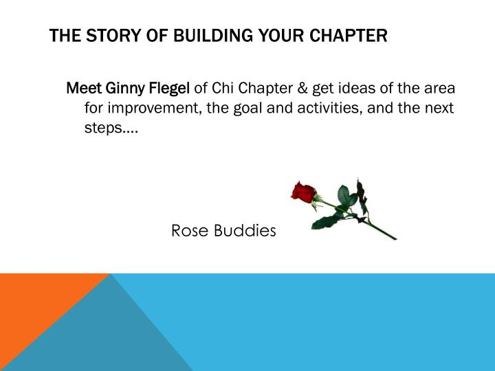 The Story of Building Your Chapter