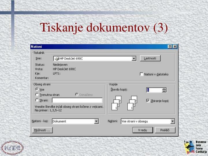Tiskanje dokumentov (3)