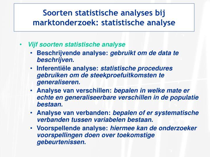 Soorten statistische analyses bij marktonderzoek: statistische analyse