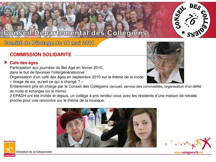 COMMISSION SOLIDARITE