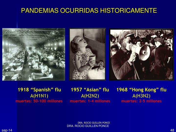 PANDEMIAS OCURRIDAS HISTORICAMENTE