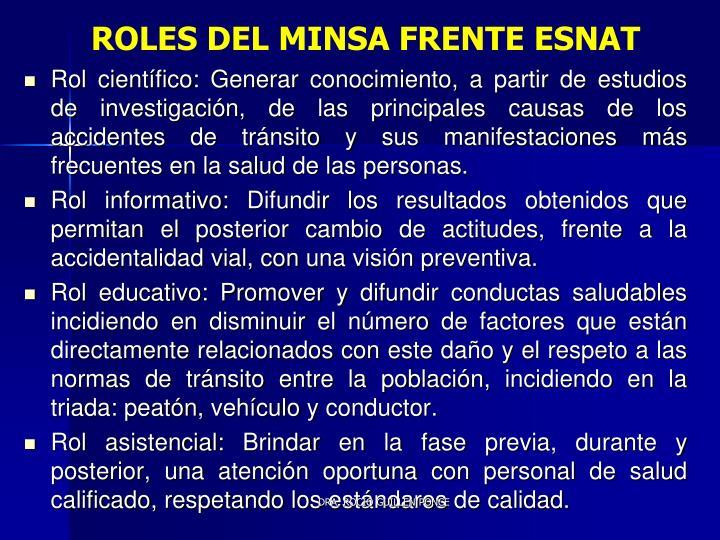 ROLES DEL MINSA FRENTE ESNAT